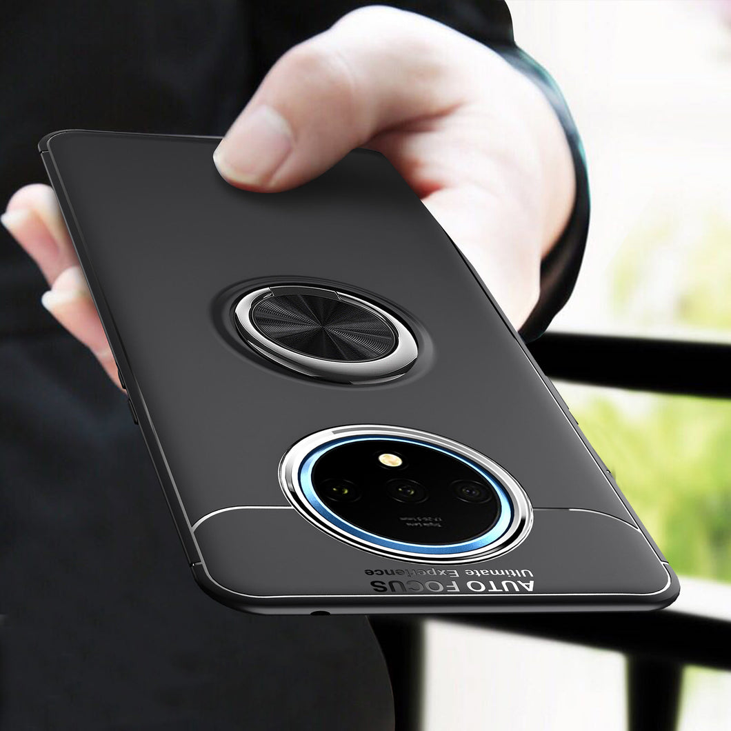 Car Holder Stand Magnetic Bracket Case Finger Ring TPU Case For OnePlus 7T