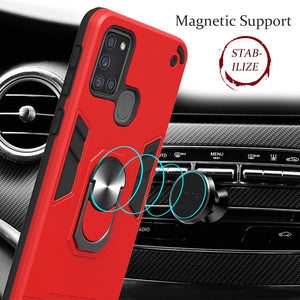 All New 4-in-1 Special Armor Ring Kickstand Case For Samsung A21S