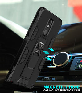 2020 Luxury Magnet Kickstand Car Holder Ring Phone Case For LG Stylo5