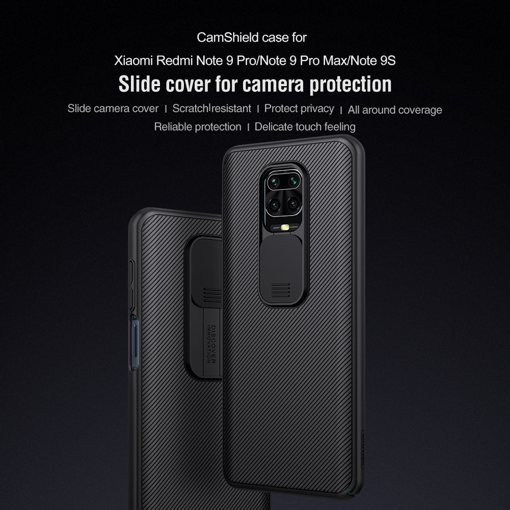 Double 12304; Black Mirror im Kombibereich 12305Luxury Slide Phone Protection Case for Redmi NOTE 9 Series
