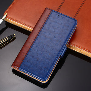 Ostrich Pattern Leather Wallet Flip Magnet Cover Case For SAMSUNG S10 Series