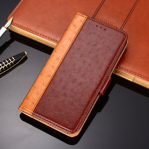 Ostrich Pattern Leather Wallet Flip Magnet Cover Case For LG Stylo4/Stylo5