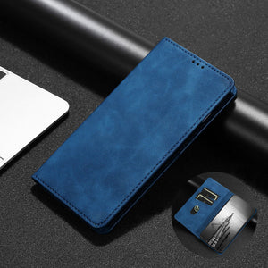 PU Leather Vintage Card Holder Flip Cover Magnetic Cases For iPhone