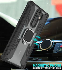 Warrior Style Magnetic Ring Kickstand Phone Cover For Redmi 9