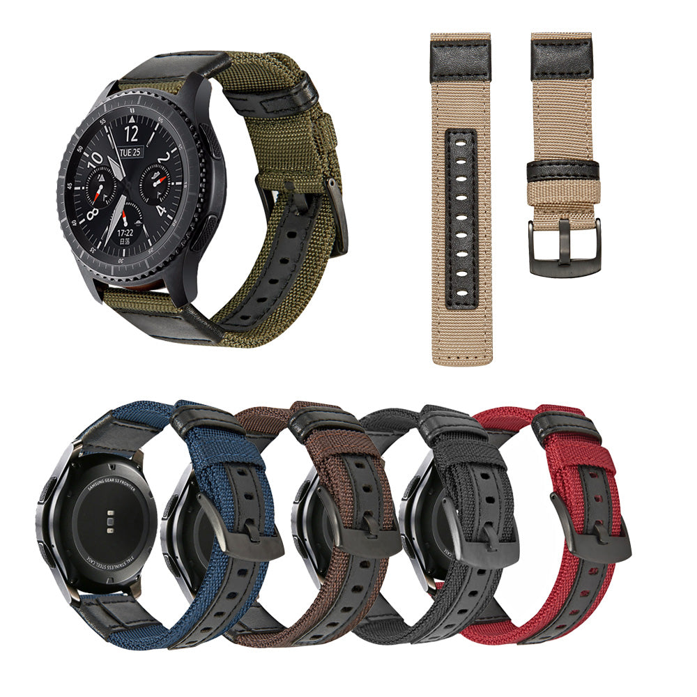Warrior Series Jeep Nylon With Leather  Watch Strap/Watch Bands