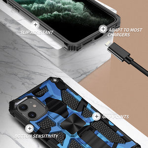2021 New Luxury Armor Shockproof With Kickstand For iPhone 11