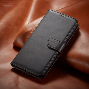 Premium Leather Wallet Side Flip Case mit Card Holder & Kickstand für Samsung S20 Serie