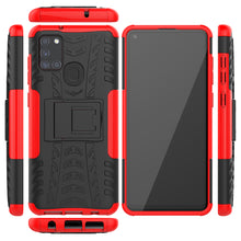 Load image into Gallery viewer, Rubber Hard Armor Cover Case For Samsung Galaxy A21S