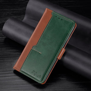 New Leather Wallet Flip Magnet Cover Case For Samsung A02