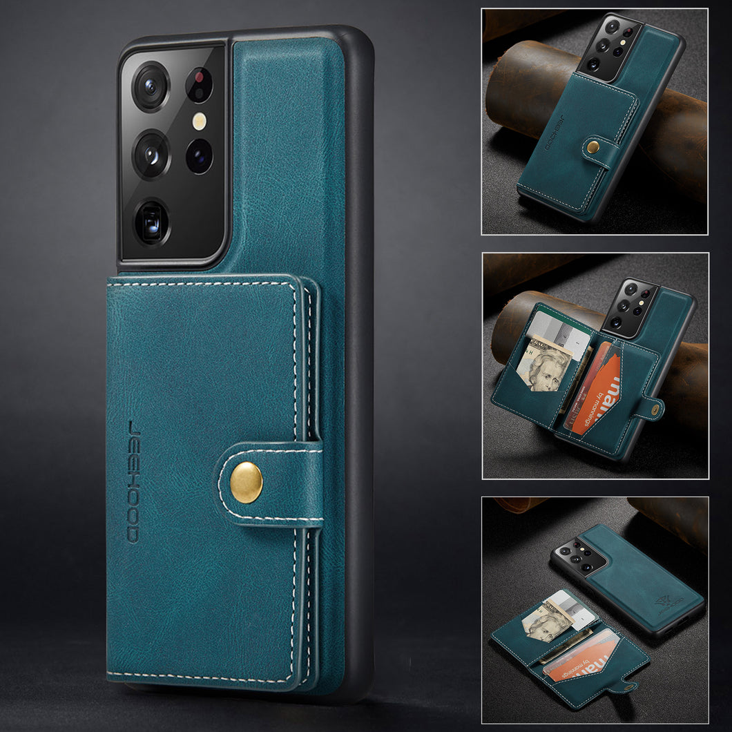 New Magnetic Wallet Phone Case For Samsung S21ULTRA(5G)