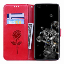 Load image into Gallery viewer, 2021 Upgraded 3D Embossed Rose Wallet Phone Case For SAMSUNG A50