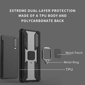 Warrior Style Magnetic Ring Kickstand Phone Cover For Huawei P30