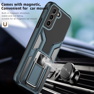 General's Armor Magenic Ring Bracket Phone Case For SAMSUNG Galaxy S21PLUS 5G