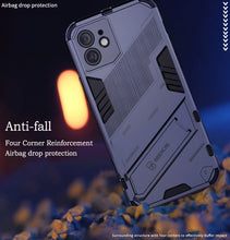 Laden Sie das Bild in den Galerie-Viewer, 2021 New Punk Style Stand Phone Case for iPhone