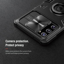 Load image into Gallery viewer, 【Black rhino】Luxury Sliding Lens Protection ring holder case for Samsung NOTE 20