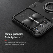 Load image into Gallery viewer, 【Black rhino】Luxury Sliding Lens Protection ring holder case for Samsung S21PLUS 5G