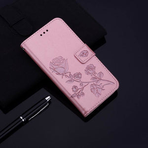 2021 Upgraded 3D Embossed Rose Wallet Phone Case For SAMSUNG S20