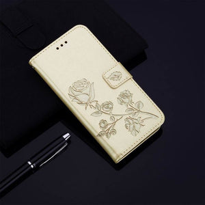 2021 Upgraded 3D Embossed Rose Wallet Phone Case For SAMSUNG A50