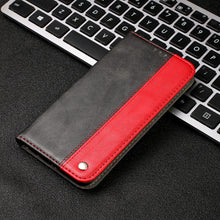 Load image into Gallery viewer, Contrasting Color Soft Leather Flip Magnet Case For iPhone 11 Series