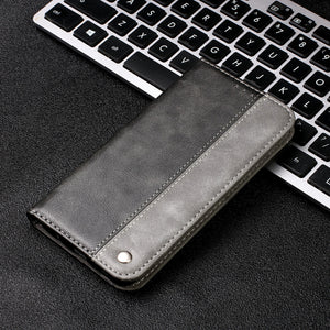 Contrasting Color Soft Leather Flip Magnet Case For Samsung Galaxy S20 FE