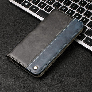 Contrasting Color Soft Leather Flip Magnet Case For iPhone 11 Series