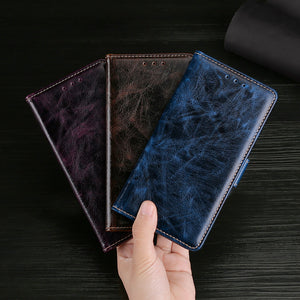 Flip Magnetic Soft Leather Wallet Cover Case For Samsung A02S