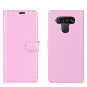 Lychee Pattern Wallet Phone Case For LG K51