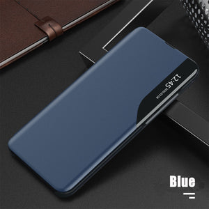 Luxury Smart Window Magnetic Flip Leather Case For Samsung S Series