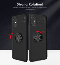Load image into Gallery viewer, Car Holder Stand Magnetic Bracket Case Finger Ring TPU Case For Samsung A Series