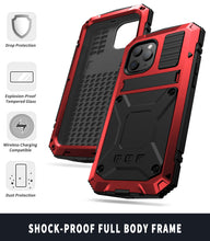 Load image into Gallery viewer, 【iPhone 12MINI】2021 Luxury Doom Armor Waterproof Metal Aluminum Kickstand Phone Case