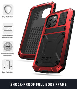 【iPhone 12MINI】2021 Luxury Doom Armor Waterproof Metal Aluminum Kickstand Phone Case