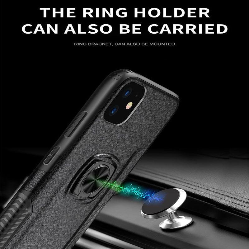 Classic 3 in 1 Magnetic Finger Ring Phone Case  For iPhone 11 Series