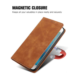 PU Leather Vintage Card Holder Flip Cover Magnetic Cases For Samsung Galaxy S21/S21Plus/S21Ultra