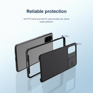 【Black Mirror】Luxury Slide Phone Lens Protection Case for Samsung S20 Series