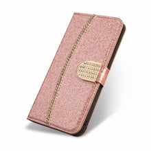 Load image into Gallery viewer, 2021 New Bling Glitter Diamond Wallet Flip Case For iPhone