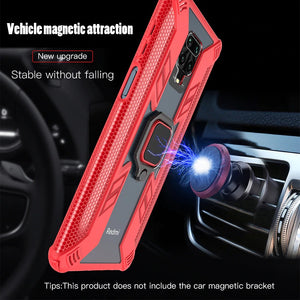 Warrior Style Magnetic Ring Kickstand Phone Cover For Redmi Note 9S
