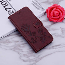 Load image into Gallery viewer, 2021 Upgraded 3D Embossed Rose Wallet Phone Case For SAMSUNG A01