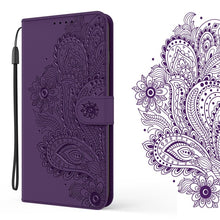 Load image into Gallery viewer, Peacock Embossed Imitation Leather Wallet Phone Case For Samsung A Series