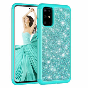 2 in 1 Glitter Gel Back Soft Case For Samsung Galaxy