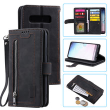Load image into Gallery viewer, 【2021 New】Nine Card Zipper Retro Leather Wallet Phone Case For Samsung Galaxy S10E