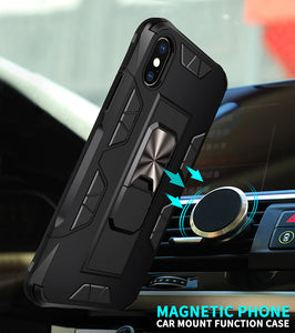 2020 Luxury Magnet Kickstand Car Holder Ring Phone Case For iPhone X