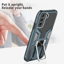 Load image into Gallery viewer, General's Armor Magenic Ring Bracket Phone Case For SAMSUNG Galaxy S21PLUS 5G