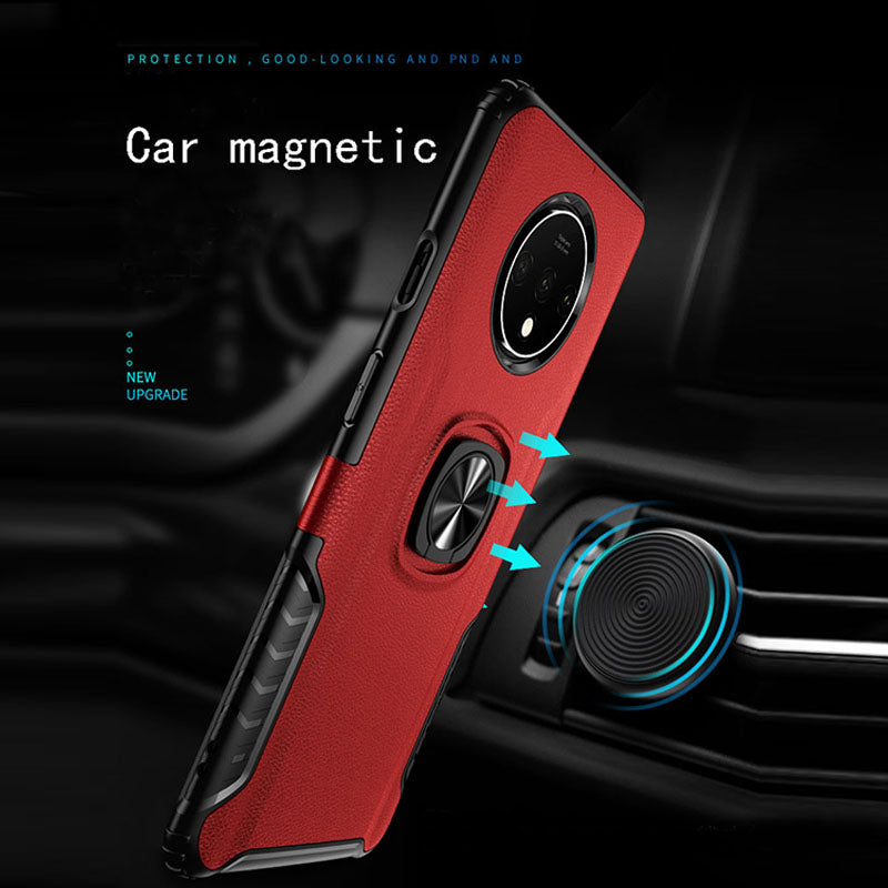 Classic 3 in 1 Magnetic Finger Ring Phone Case  For Oneplus 7T