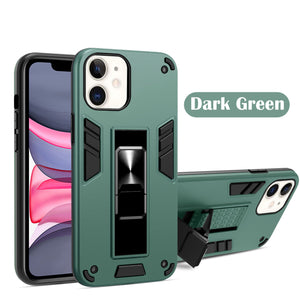 2021 Upgraded Invisible Bracket Armor Warrior 2-in-1 Case For iPhone 11 Series