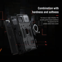 Load image into Gallery viewer, 【Black rhino】Luxury Sliding Lens Protection ring holder case for iPhone 11Pro/11ProMax