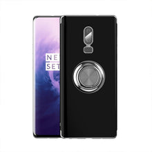 Load image into Gallery viewer, 2020 Transparent Colorful Magnetic Ring Holder Phone Case For Oneplus 6