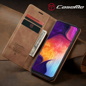 【2021 NEW】CaseMe Retro Wallet Case For Samsung A50