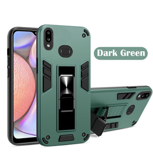 2021 Upgraded Invisible Bracket Armor Warrior 2-in-1 Case For Samsung Galaxy A20/A30