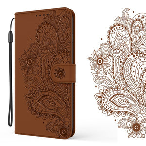 Peacock Embossed Imitation Leather Wallet Phone Case For Oppo A5(2020)/A9(2020)