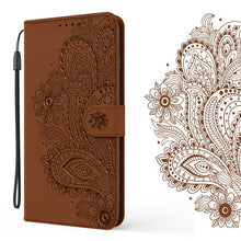 Load image into Gallery viewer, Peacock Embossed Imitation Leather Wallet Phone Case For Samsung Galaxy S Series